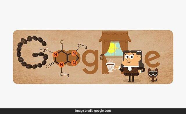 تغییر لوگوی گوگل به افتخار دانشمندی که کافئین را شناسایی کرد