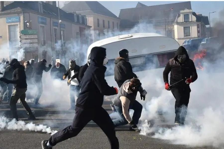 درگیری در شهر لومان فرانسه