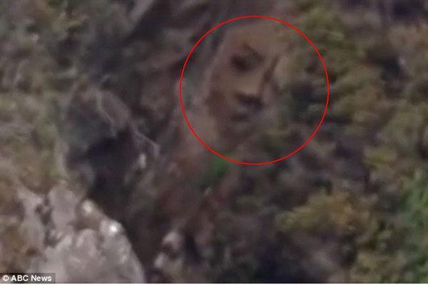 افسانه چهره پنهان در صخره های کانادا به واقعیت مبدل شد