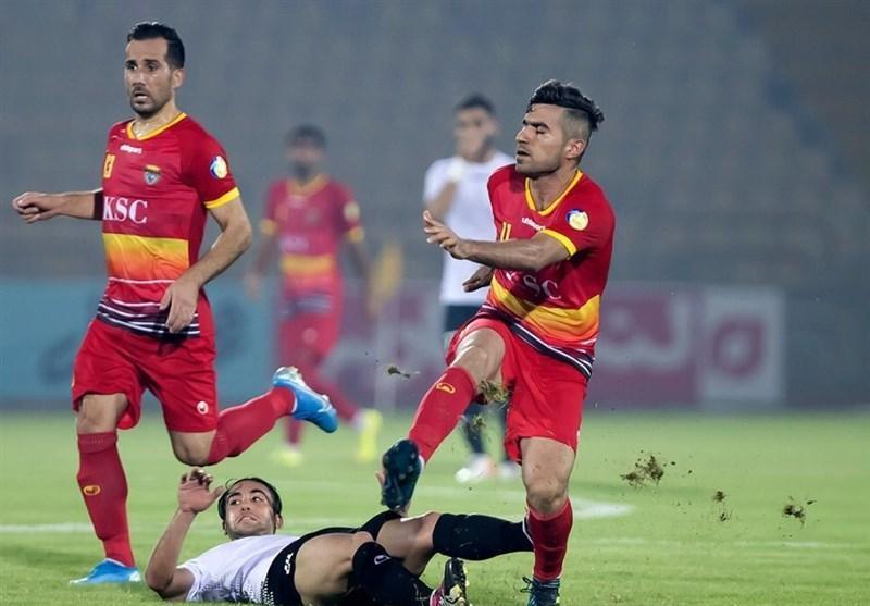 لیگ برتر فوتبال، تساوی فولاد و نساجی در نیمه نخست
