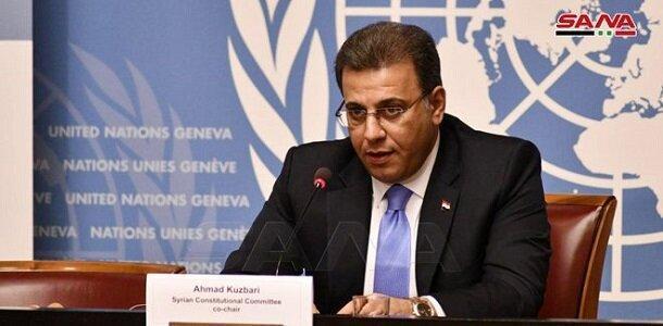 هیئت اعزامی دمشق به ژنو: هیچ مانعی در اصلاح قانون اساسی سوریه وجود ندارد