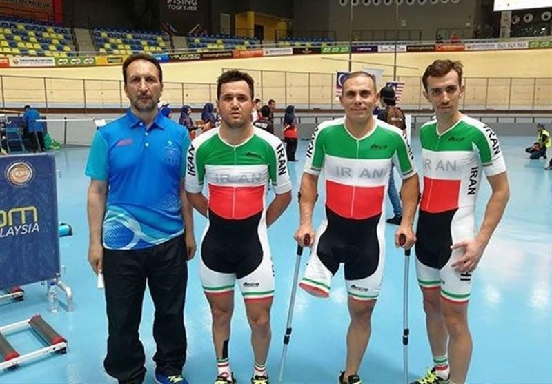 دوچرخه سواری پیست قهرمانی آسیا، نایب قهرمانی ایران در تیم اسپرینت معلولان
