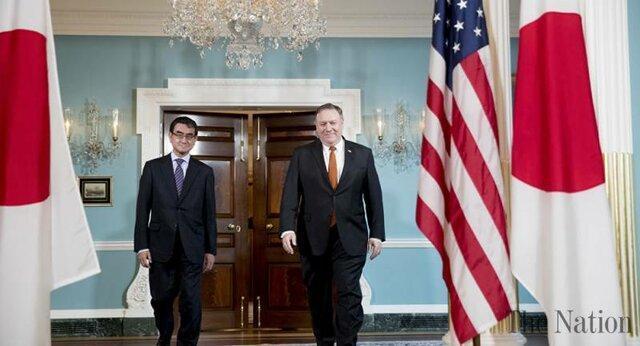 وزرای خارجه آمریکا و ژاپن پیش از نشست اون و ترامپ ملاقات می نمایند