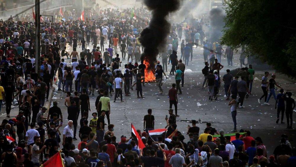 معترضان میدان نفتی ناصریه را بستند