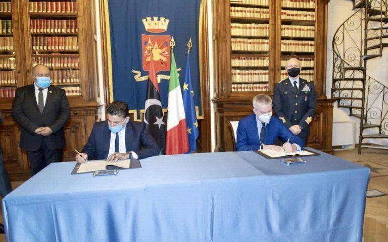ایتالیا و لیبی توافقنامه نظامی امضا کردند