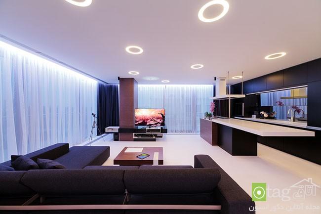 عکس از داخل خانه با دکوراسیون کامل و چیدمان مدرن و زیبا