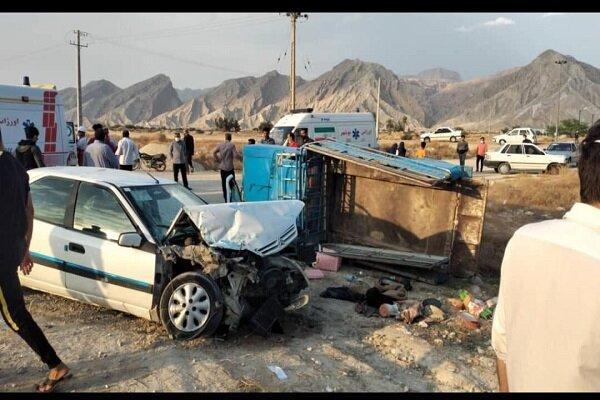 22 مصدوم در تصادف 2 خودرو در دیر