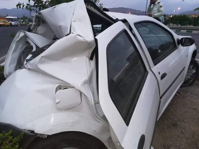 انحراف و واژگونی مرگبار خودروی تیبا در بابلسر، 5 قربانی گرفت