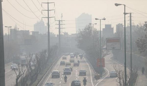 آلودگی هوا دست از سر تهران بر نمیدارد