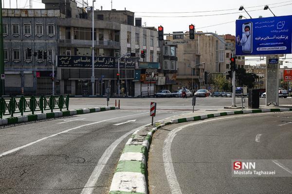 شرایط ترافیکی معابر بزرگراهی تهران، در روز پنج شنبه نوزدهم فروردین ماه 1400