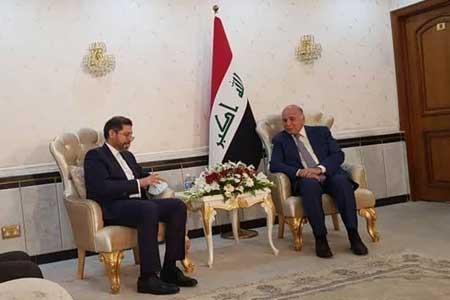 سخنگوی وزارت امور خارجه کشورمان با وزیر خارجه عراق دیدار کرد