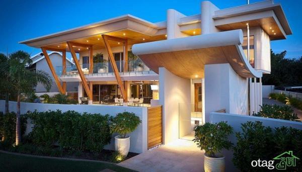 29 مدل تصاویر نمای خانه ویلایی [شیک و لوکس و ساده] مدرن و سنتی 1400