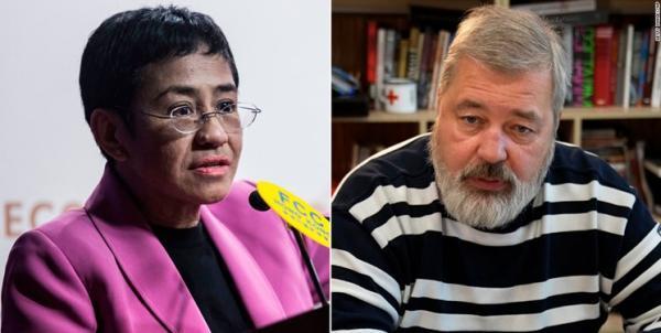 تور فیلیپین: دو روزنامه نگار روس و فیلیپینی برنده جایزه صلح نوبل شدند